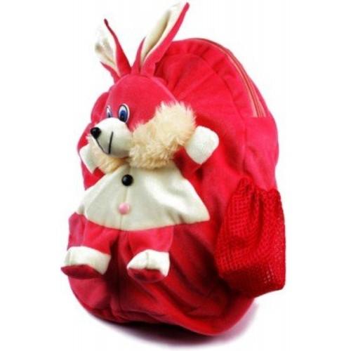 Richy Toys Richy Toys Rabbit Cute Teddy Soft Toy School Bag for kids(Pink)