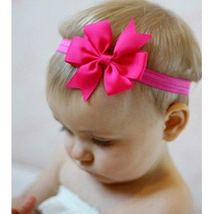 Qandsweet Baby Girl's Hairbands Hair Bow (12pack)