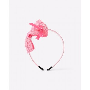 Anaira Hairband with Floral Lace Bow