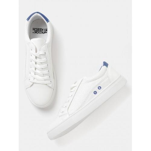141f0a805 Buy Kook N Keech Women Off-White Perforated Sneakers online ...