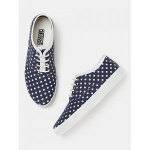 Kook N Keech Women Navy Printed Sneakers