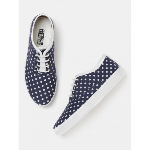 8f1cac90a1e Buy Kook N Keech Women Navy Printed Sneakers online