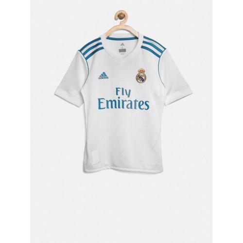 Buy Adidas Boys White Real Madrid C.F Printed V-Neck Jersey online ... 64fa2772c