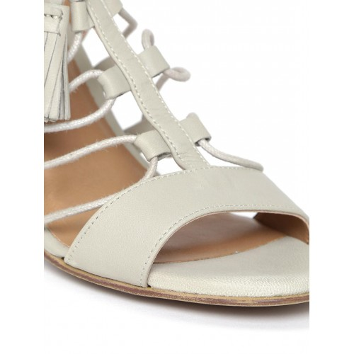 fc9c0a5680d Buy Red Tape Women Grey Solid Leather Block Heels online