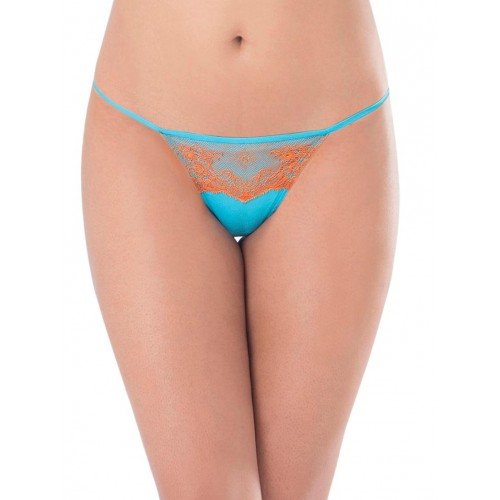 PrettySecrets multi colored cotton thongs panty (set of 2)