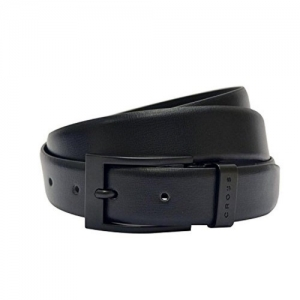 Black Genuine Leather Formal Belt For Men