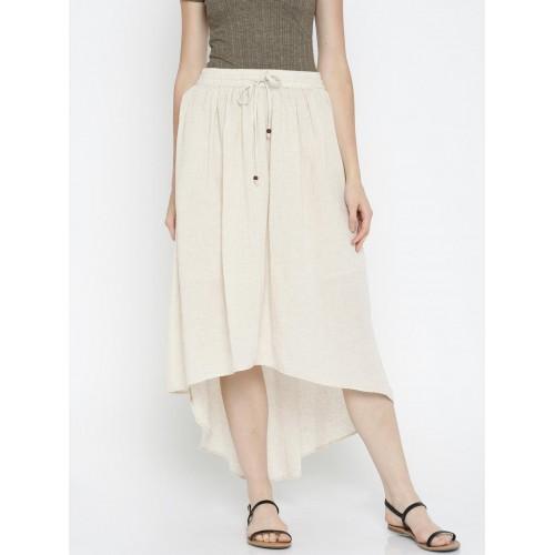 ef73f9c3f Buy Global Desi Off-White Speckled High-low Skirt online | Looksgud.in