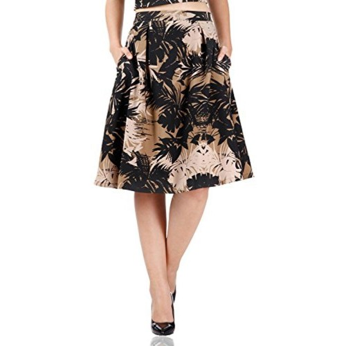 Miss Chase Miss Chase Women\'s Floral A-Line Skirt