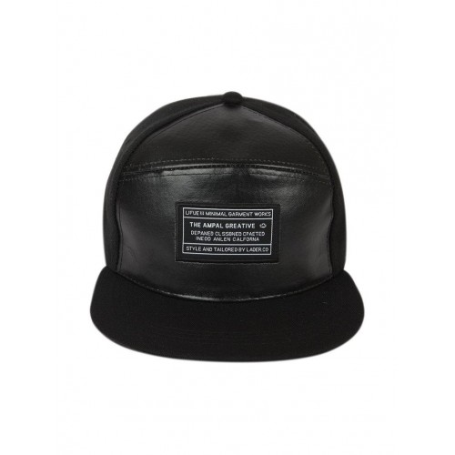 b25237fc259 ... ILU ILU Hiphop Snapback Leather Caps Black Men Women Caps Hats ...