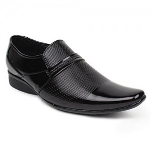 BUWCH Black Patent Leather Formal Shoes