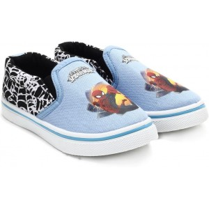 Spiderman Boy's Light Blue Printed Shoes