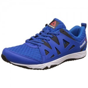 Reebok Blue Solid Low Ankle Sports Shoes