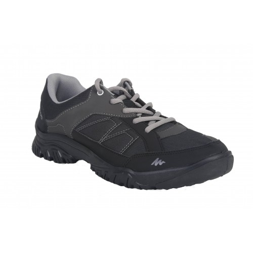 Decathlon Blakc & Gray Arpenaz 50 Mid Men's Hiking Boots