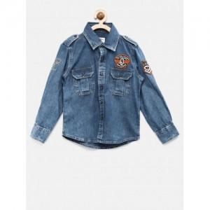 Pepe Jeans Navy Blue Denim Casual Shirt