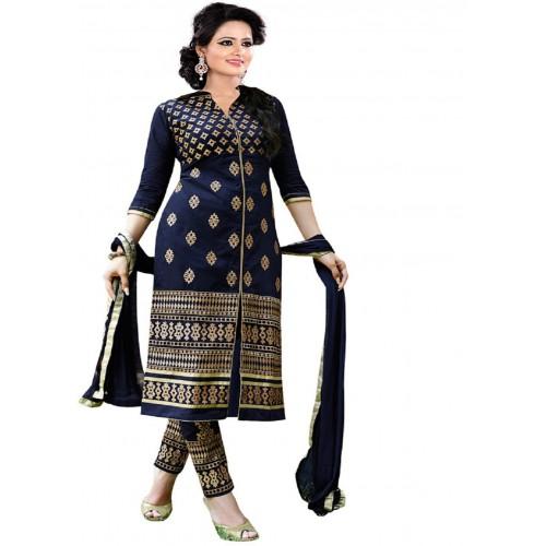 Aashvi Creation Cotton Embroidered, Solid Salwar Suit Dupatta Material