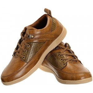 Shoe Island Tan Artificial Leather Casual Shoes