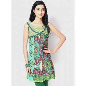 18 Fire Multi Colored Printed Kurti
