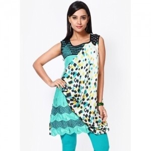 18 Fire Multi Colored Printed Cotton Kurti