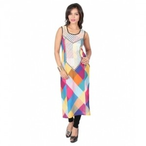 18 Fire Multicolour Cotton Kurti
