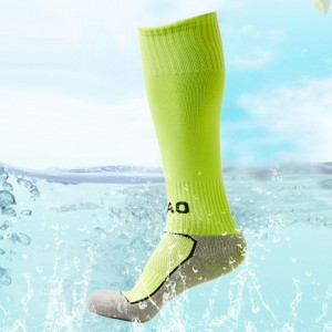 Green Cotton Soccer Stocking Knee High Sports Football Socks