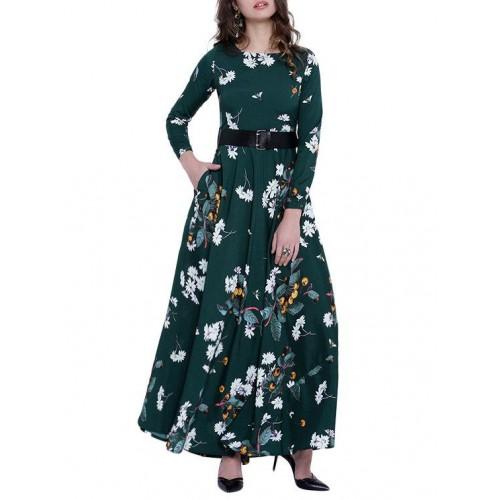20b46fa12 Buy Tokyo Talkies green maxi dress online