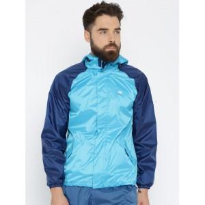 Wildcraft Blue Hooded Waterproof Rain Jacket