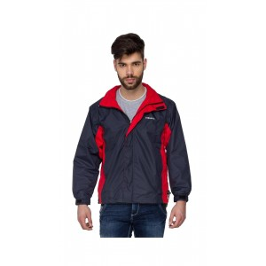 Versalis Men's Raincoat - Arnold Rain Jacket (Black Red - M) by gorav