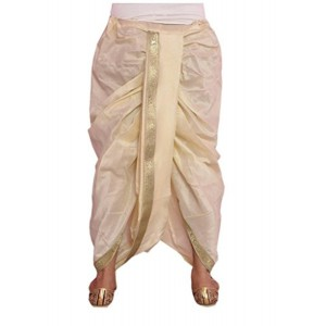 Larwa LARWA Solid Men's Readymade Dhoti Cream