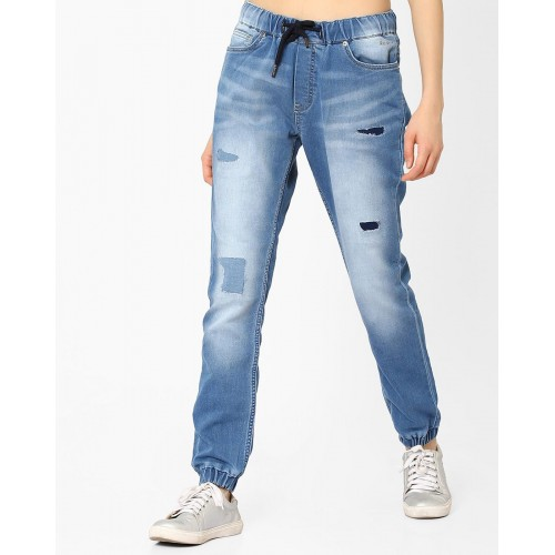 Buy Pepe Jeans Jogger Denims With Elasticated Waist Online Looksgud In