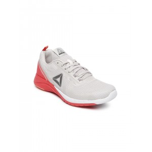 Reebok Mesh & PU Grey Print Run 2.0 Running Shoes