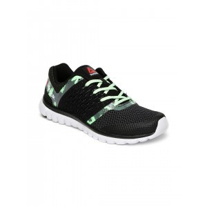 Reebok Black Mesh  Sublite Transition Sports Shoes
