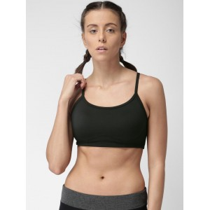 9dd6773f1dbfa New Balance Black Solid Non-Wired Lightly Padded Sports Bra WBT3106. ₹3999  Myntra