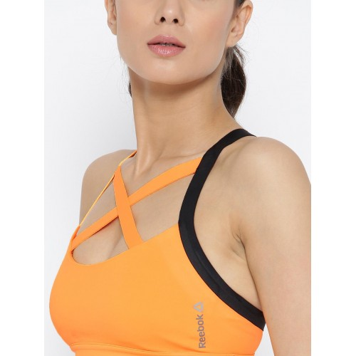 c5bcc22840 Buy Reebok Orange C STRAPPY Solid Lightly Padded Sports Bra BJ9006 ...