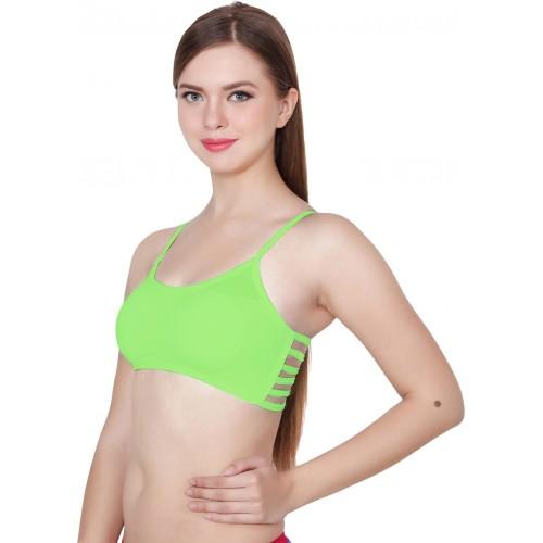 Apraa Women's, Girl's Bralette, Balconette, Sports Green Bra