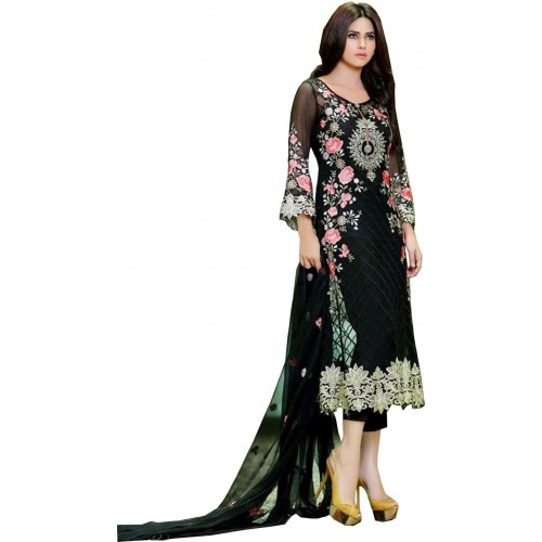 a11cd8a80 Buy MF Retail Georgette Embroidered Semi-stitched Salwar Suit Dupatta  Material online
