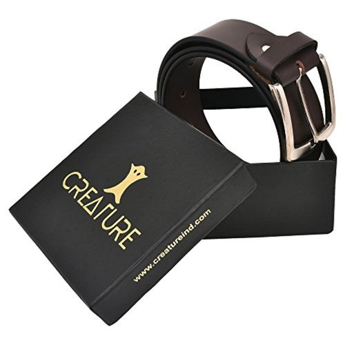 CREATURE Creature Formal/Casual Brown Genuine Leather Belts For Men (BL-03)
