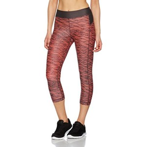 Under Armour HeatGear Armour Printed Women's Orange Sports Leggings