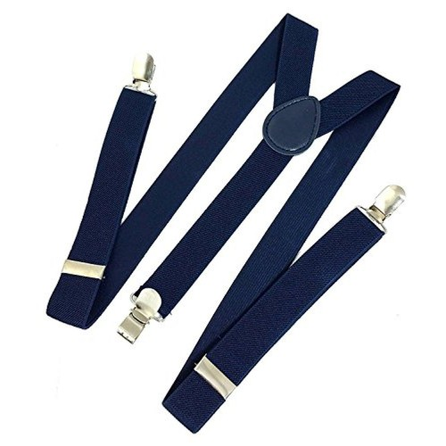 Zacharias Zacharias Navy Blue Suspenders for Men