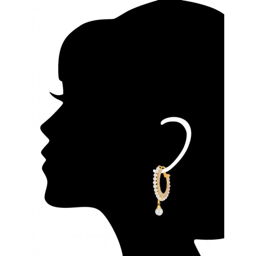 Shostopper gold metal hoop earring