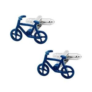 The Tie Hub The Tie Hub Blue Bicycle Brass Cufflinks