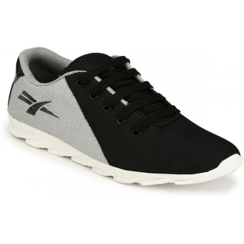 REVOKE Rodio Black Synthetic Lace Up Sports Shoes