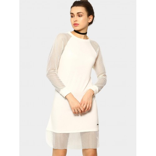 9438d0b5cdc6c Buy Antigravity Women Off-white Sheath Dress online