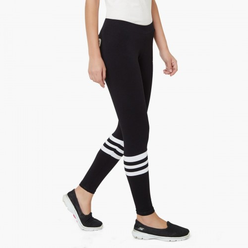 Buy Kappa Black Printed Ribbed Band Tights online  3feb605b36a06