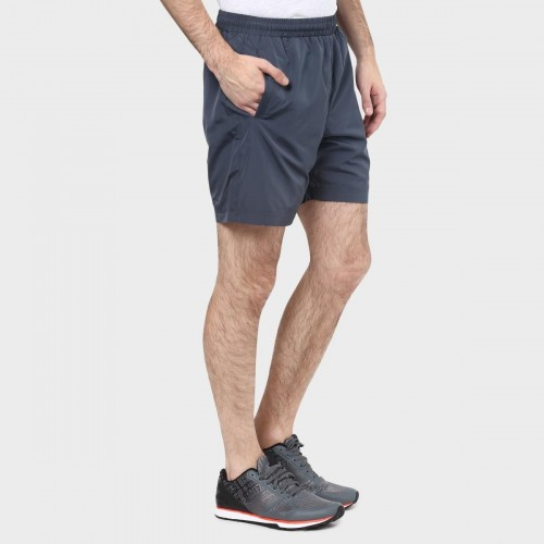 Kappa Navy Blue Solid Sporty Shorts