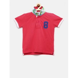 Pepe Jeans Boys Dark Pink Polo T-shirt