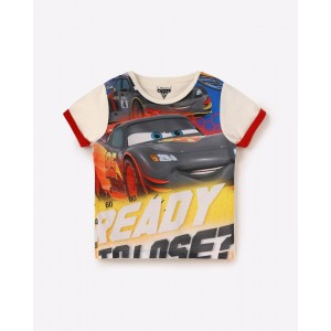 AJIO Cruz Ramirez, Jackson Storm & Lightning Mcqueen Print T-shirt