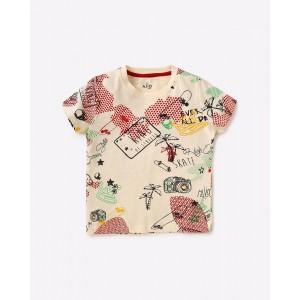 AJIO All-Over-Print Crew-Neck T-shirt