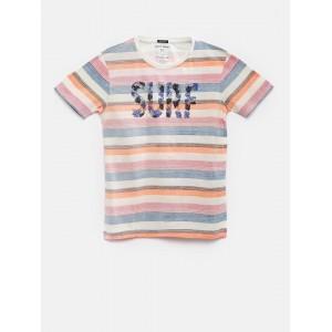 Indian Terrain Boys Multicoloured Striped T-Shirt