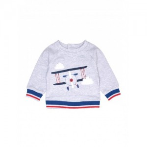 Mothercare Gray Cotton Printed T-Shirt