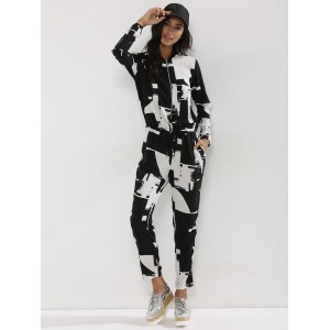 Only Black & White Printed Jumpsuit